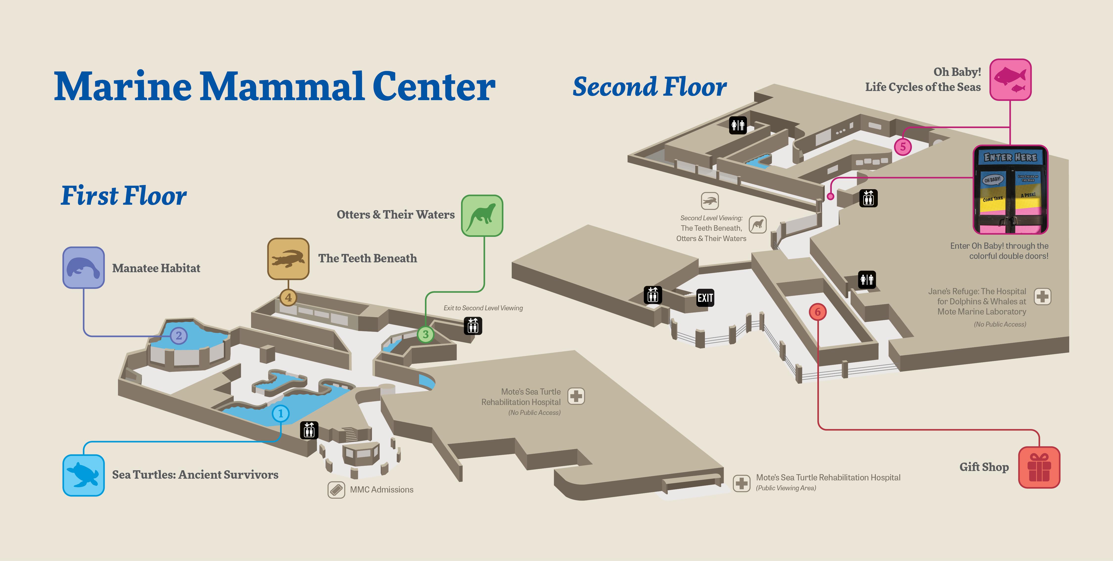 Mote Marine Mammal Center Floorplan Map