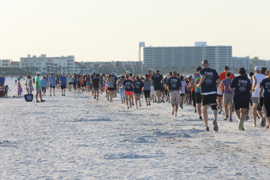 Runners and walkers took to Siesta Key Beach on April 4, 2019 for 33rd Annual Run for the Turtles. Credit Conor Goulding / Mote