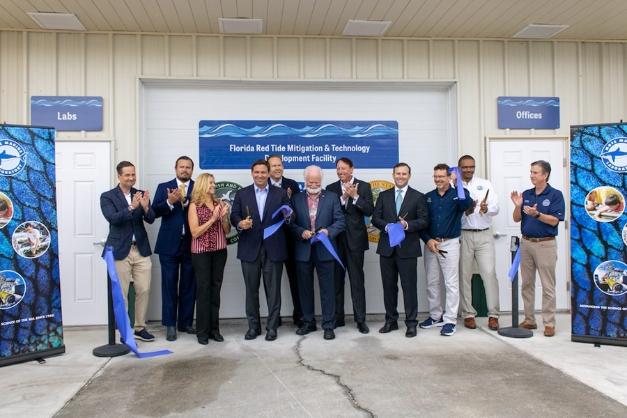 Governor DeSantis opens first-of-its-kind red tide mitigation technologies testing facility