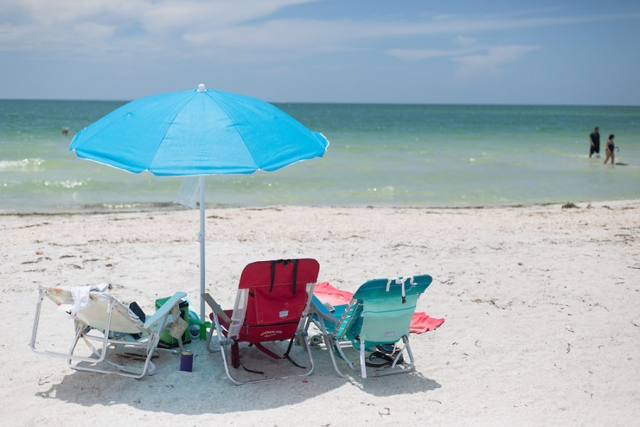 A beach in Sarasota County, an ideal place for smartphone users to try the new Citizen Science Information Collaboration app.