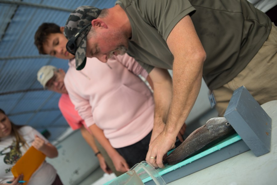 On Jan. 25 Riverview High School studies explored numerous career opportunities in marine aquaculture at MAP.