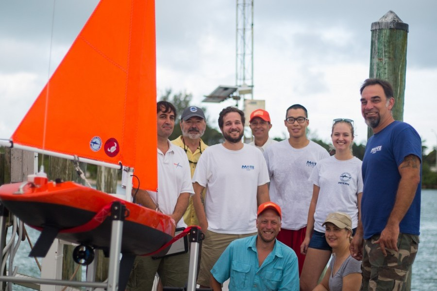 Mote Marine Laboratory and Navocean team up to launch an underwater robotic glider and a solar-powered sailboat drone.