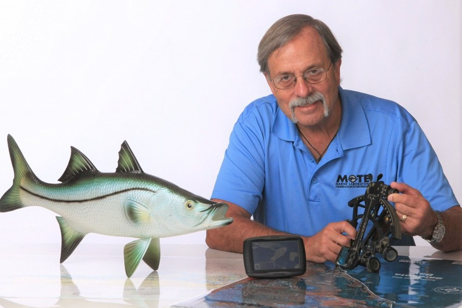 Dr. Ken Leber. Photo copyright: Mote Marine Laboratory