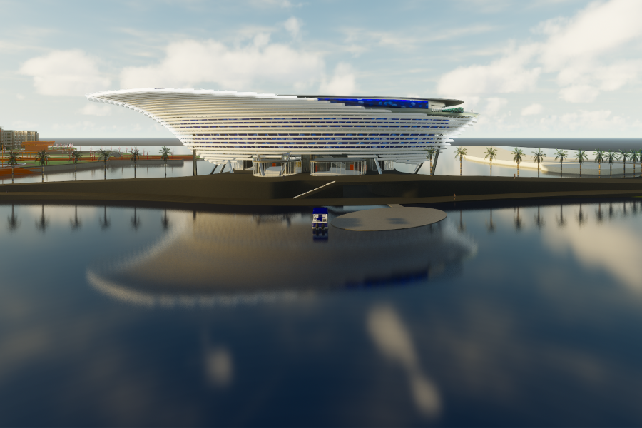 Rendering of planned Mote Science Education Aquarium