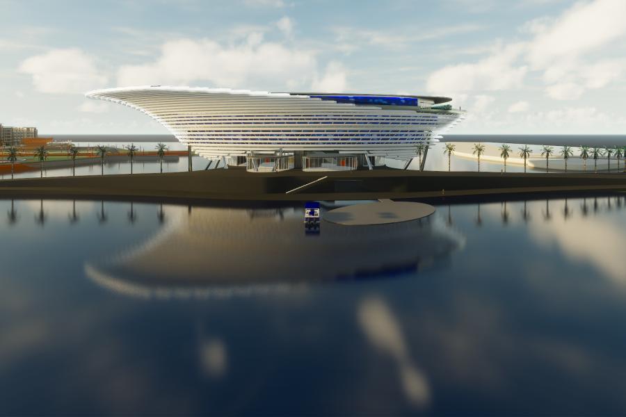 Rendering of the planned Mote Science Education Aquarium. Copyright: Mote Marine Laboratory