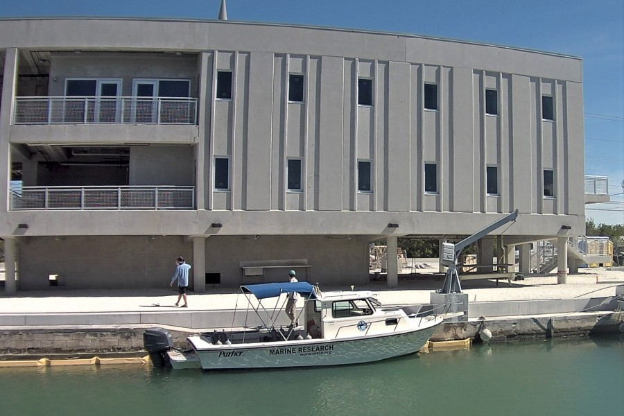 Mote's IC2R3 on Summerland Key, Florida, in April 2017, ahead of the May 25 ribbon-cutting ceremony. Credit: Mote Marine Lab