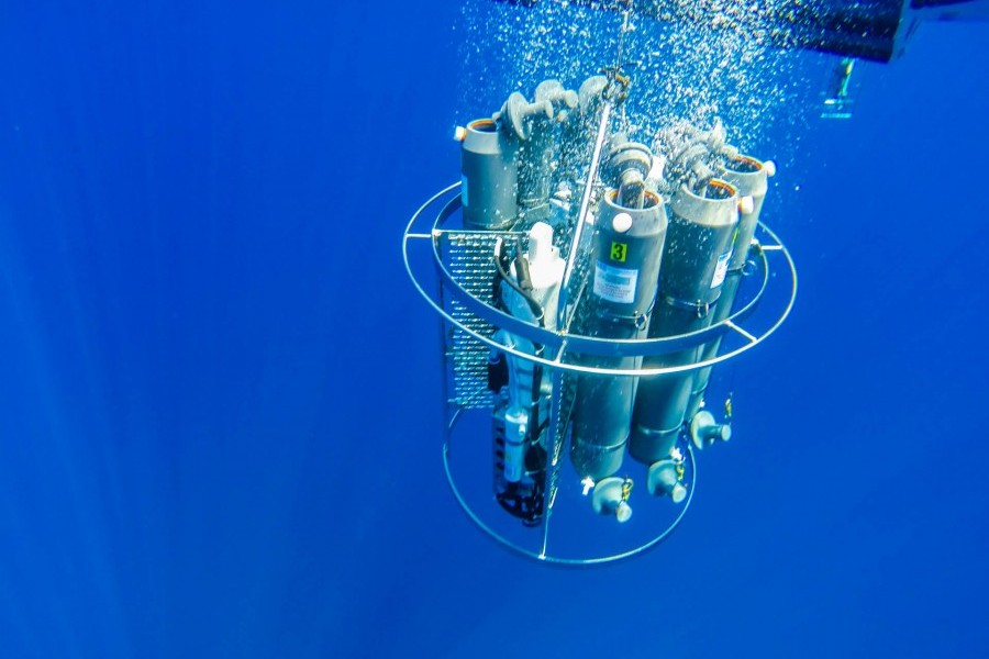 Sampling instruments deployed by Mote scientists studying phytoplankton. Credit Conor Goulding / Mote Marine Laboratory