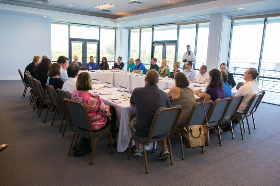 Leadership from state agencies and Mote meet for a roundtable discussion on red tide on Sept. 24, 2018