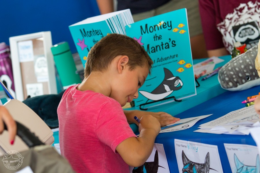Blake Delaney celebrated World Oceans Day with Mote on Saturday, June 3. Credit: Conor Goulding / Mote Marine Lab
