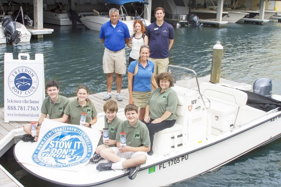 Pine View School, Mote and Freedom Boat Club Partner in Earth Day Conservation Initiative