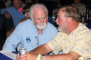 Mote President & CEO Dr. Michael P. Crosby (left) with Capt. Scotty Moore