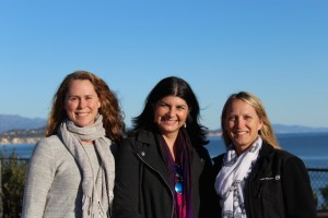 The scientists who will conduct the study. Left to right: Marilyn Brandt (University of theVirgin Islands), Laura Mydlarz (University of Texas), Erinn Muller (Mote Marine Laboratory