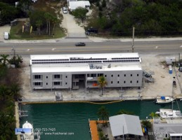 Aerial photo of Mote's Elizabeth Moore International Center for Coral Reef Research & Restoration (IC2R3). Credit FAST Aerial.