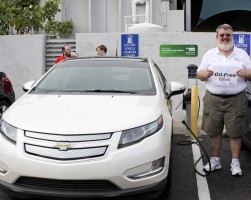 A plugged-in Chevrolet Volt