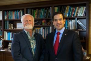 Mote President & CEO Dr. Michael P. Crosby with Senator Marco Rubio (R-FL)