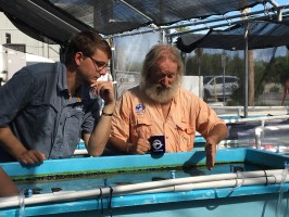Zack Rago of Chasing Coral and Dr. David Vaughan, Executive Director of Mote's Elizabeth Moore International Center for Coral Reef Research & Restoration in Summerland Key, Florida.