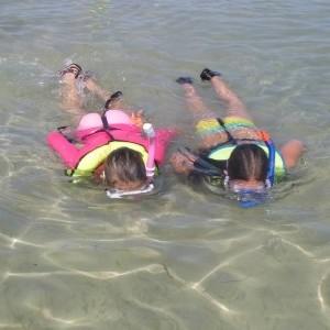 Campers snorkel