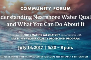 """Community forum in the Keys: """"Understanding Nearshore Water Quality and What You Can Do About It"""